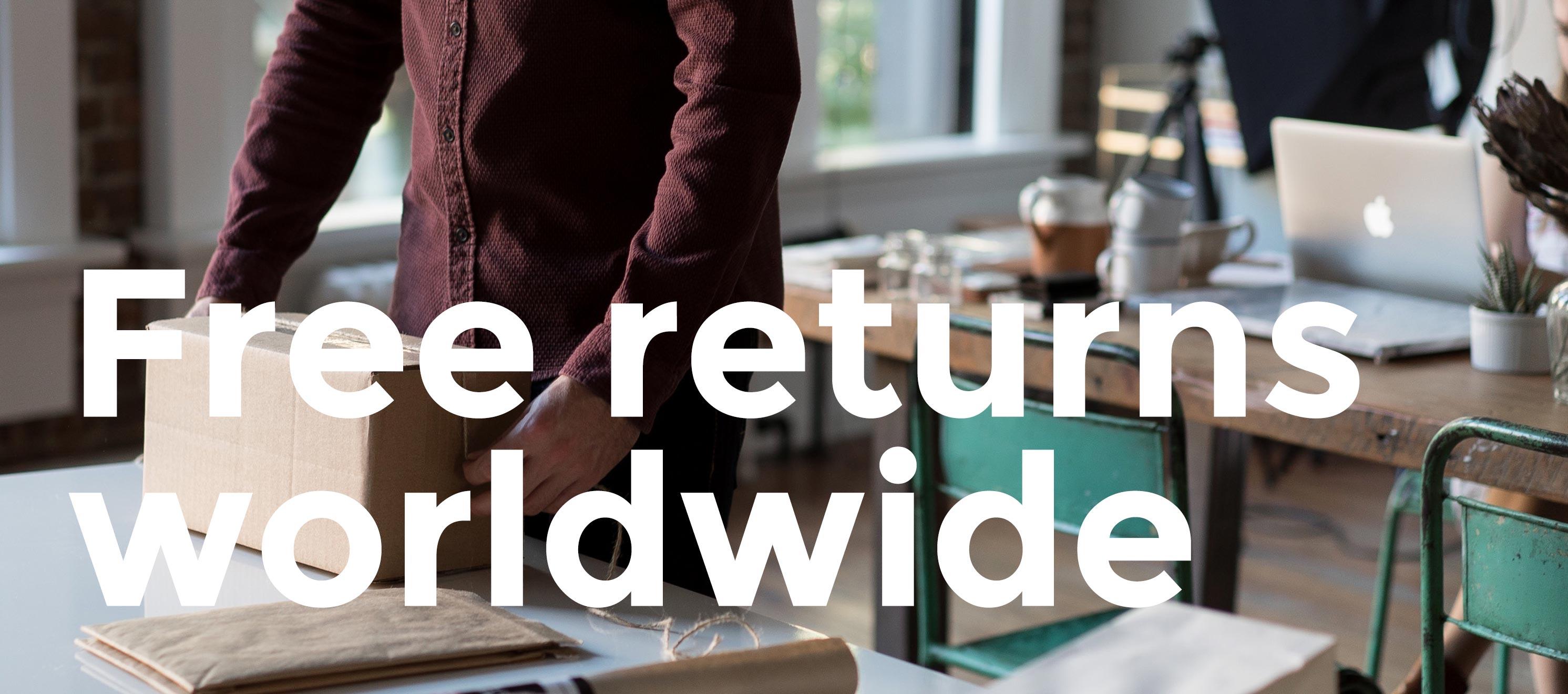 Free returns worldwide